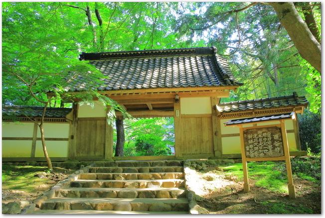 新緑の緑が鮮やかな中尊寺の様子