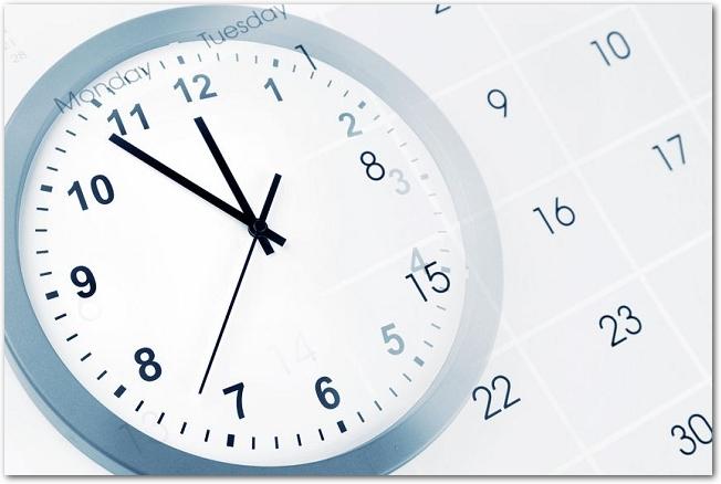 時計の文字盤とカレンダー