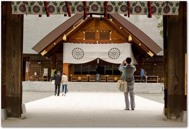 北海道神宮の本殿の様子